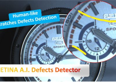 How to detect scratches on glass and shiny watch parts